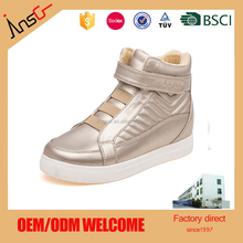 china high quality cotton insole casual flat shoes for young girs