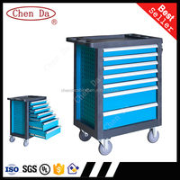 7 drawer High quality tool trolley/cabinet/toolbox with 220pcs hand tools