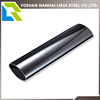 Black steel oval stainless steel pipe for decoration