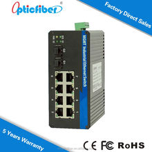 10 Port, Layer2, Managed, DIN Rail, Industrial Ethernet Switch, 8 X 10/100 Base-T(X) & 2 X 100/1000 Base(X) SFP Slot