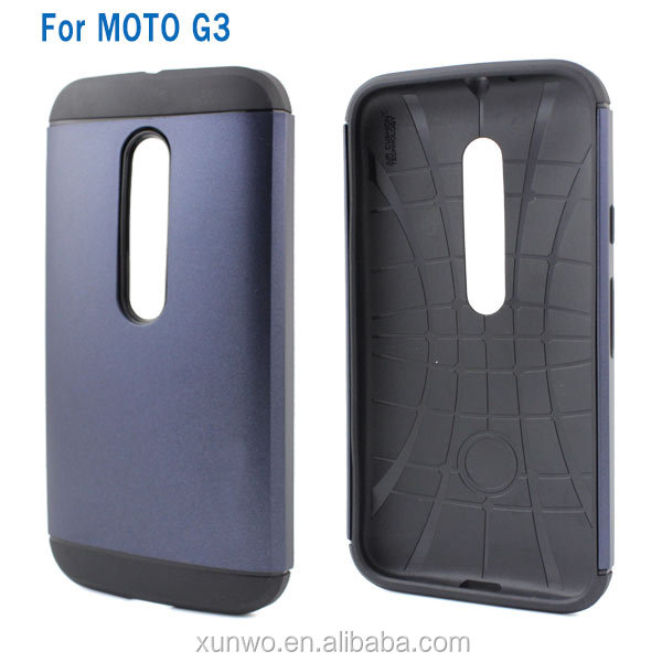 Factory direct sale fashion slim armor case for Motorola G3 cell phone cover for MOTO G3