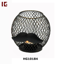 Mustache antique cast iron candle holder