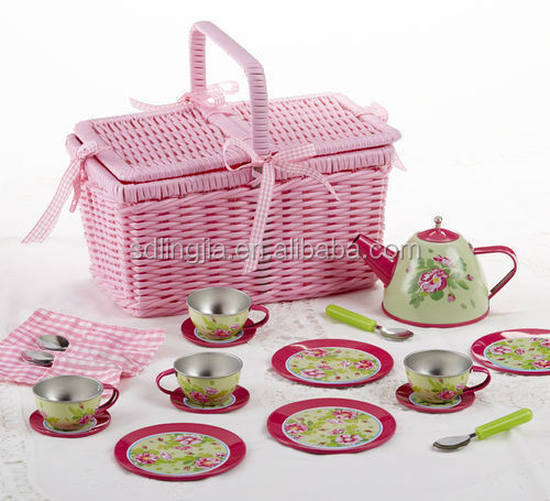 Pink Wicker Willow Storage Picnic Hamper Hanging Garden Gift Basket