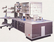 Medical Lab Table Hexagonal School Furniture China Manufacturer with High Shelves