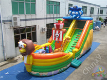 giant pirate ship inflatable slide/pirate ship inflatable slide