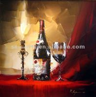 the most pop wine bottle oil paintings on canvas