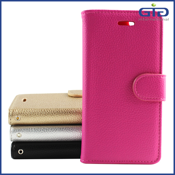 High Quality Card Slot Business Wallet Case Flip Cover for iPhone 6