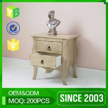 Yibang Two Small Drawer Wood Bed Side Table For Bedroom