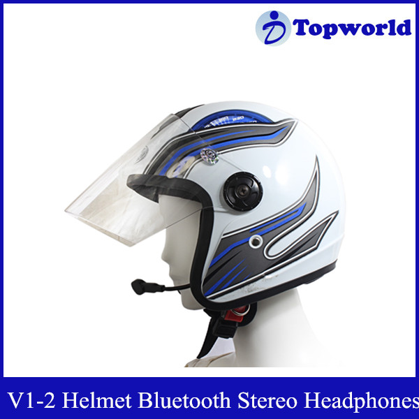 Wholesale Waterproof Special Automatically and Safely Receive Phone Call Motorcycle Helmet Bluetooth Stereo Headphones V1-2