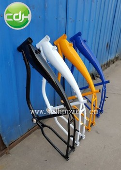 2.4L colorful gas tank bicycles frame with petrol engine