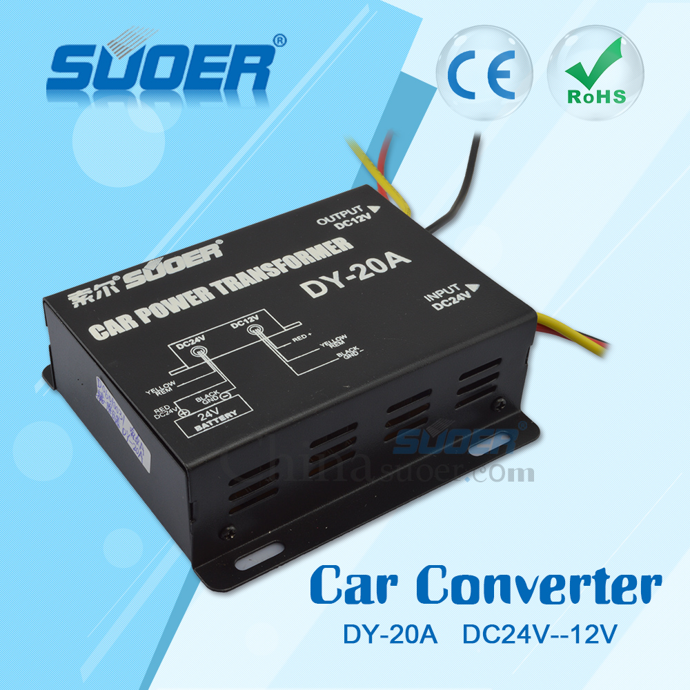 Suoer High Quality Step Down Transformer 10A DC 24V to DC 12V Converter Single frequency converter
