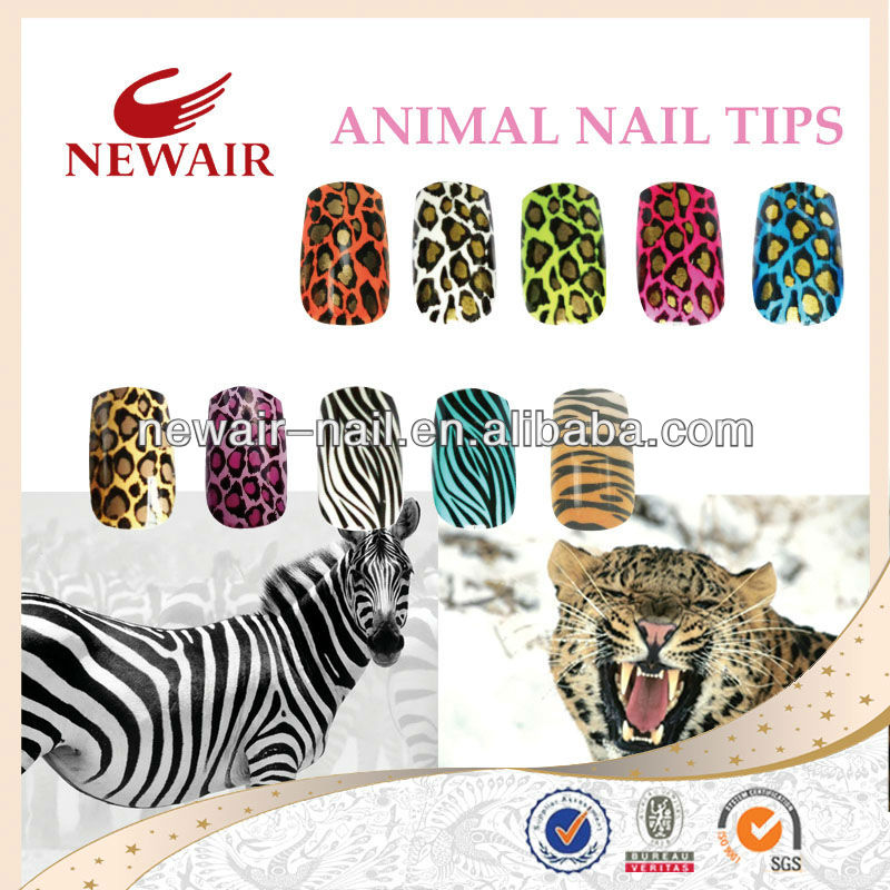 VIVI ANIMAL NAIL ART TIPS WITH MANY PATTERNS
