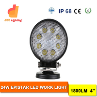 Emark Auto Parts 15W 18W 24W 27W Round Truck Offroad Tractor Trailer LED Work Light EMC Work Light