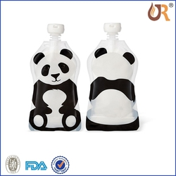 POPULAR flat bottom stand up spout pouch/square bottom bag with spout for beverage