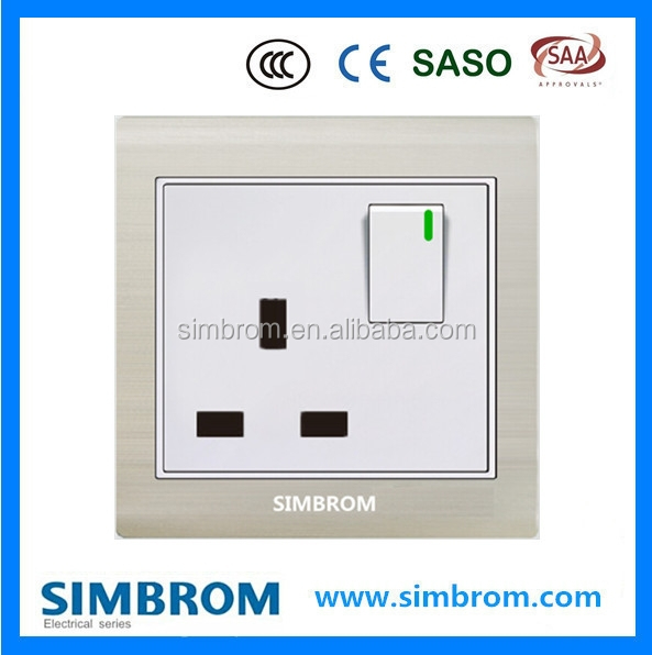 New design wall switch and socket TV outlet electric decorative for household