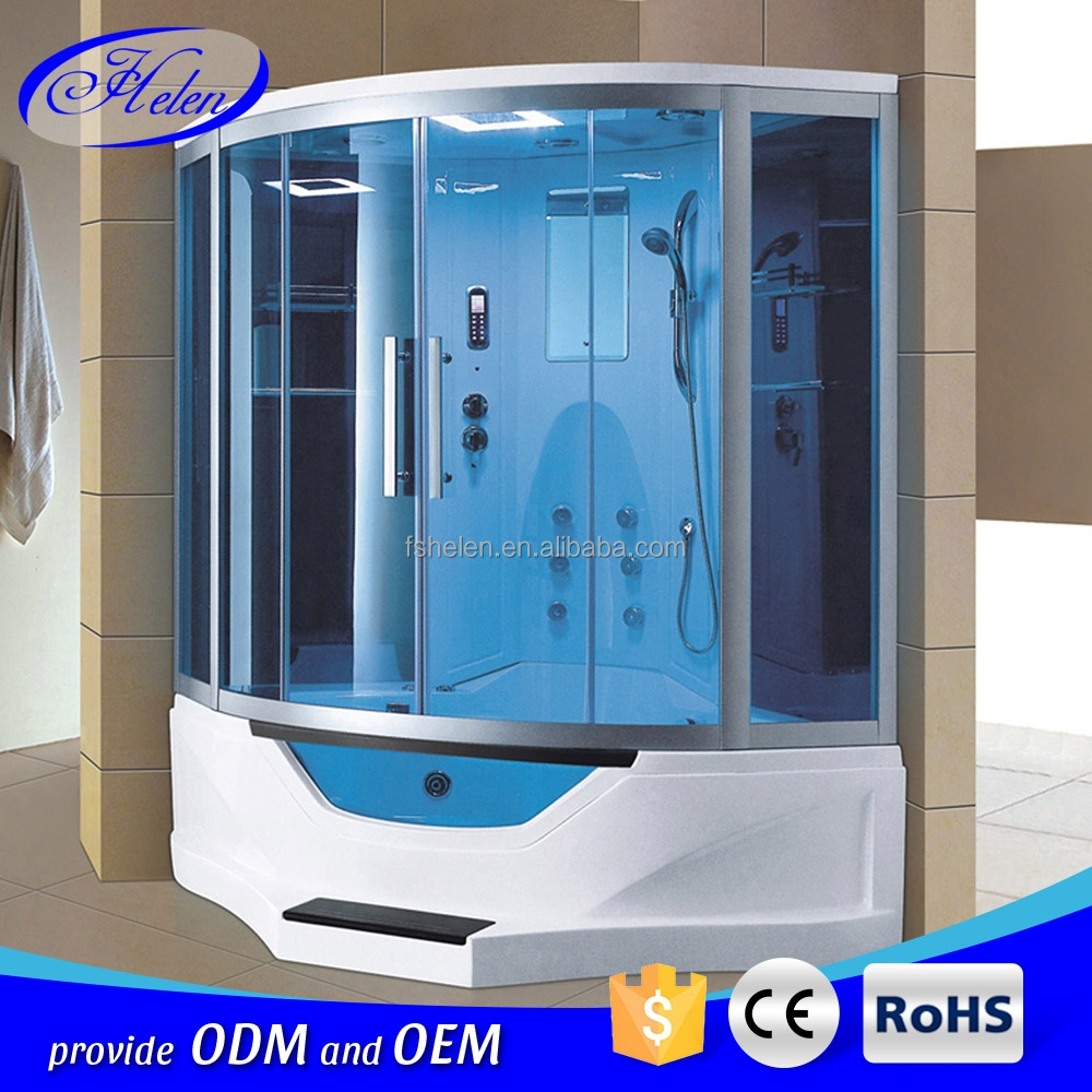 New Arrival Comfortable Deluxe Computer Controlled Steam Room 2 Person Steam Shower Room With Bathtub Corner Steam Shower Room