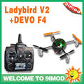 Walkera 2.4G Micro 4 CH UFO QR Ladybird V2 with Latest DEVO F4 Transmitter with TX5805 Camera Quadcopter with FPV RTF
