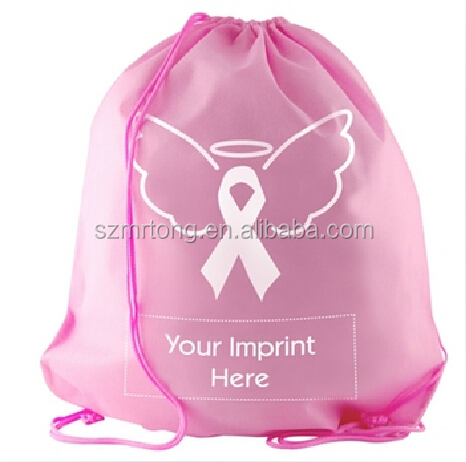 high quality drawstring non-woven laundry bag for five-star hotel
