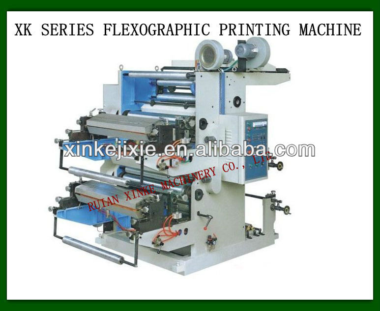 XK-21200 Two Color Flexo Graphic Printing Machine