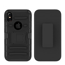 Evergreentech Soft Robot bracket slide sleeve OEM phone cases 3in1 fuction protective phone cover For iphone x for iphone 8
