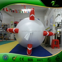Customized Hot Sale Inflatable Air Blimp / Advertising Inflatable Helium Airship Rc zepplin With Led Lighting