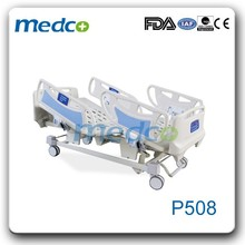 CPR electric hospital bed with side rails remote control P508