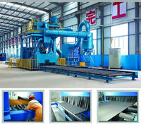 Q698 series standard sandblasting machine for steel plate