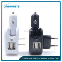 Rapid car chargers ,H0T084 2-in-1home & car charger 1a output , micro usb home wall charger
