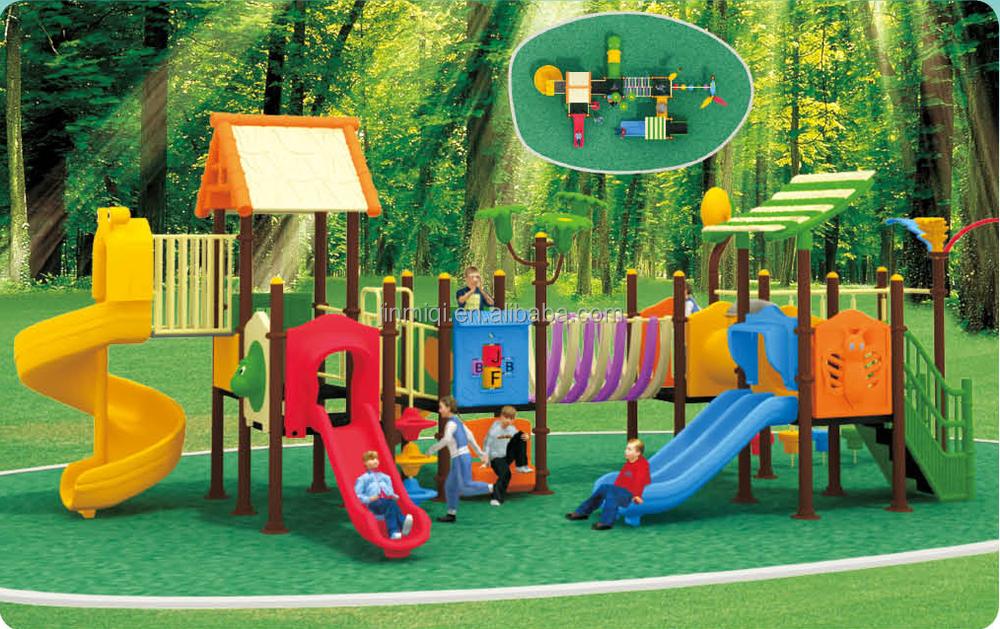 Jmq J008a Plastic Slide Playground Structure Kids Climbing