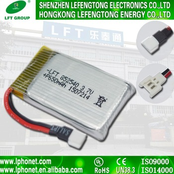 Alibaba recomend li-ion battery 3.7v 650mah li-polymer battery ds 852540 for syma x5sc