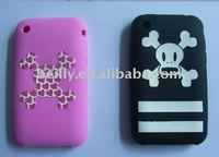 Cool Skull and bone Cartoon Design Silicone cell phone cases factory