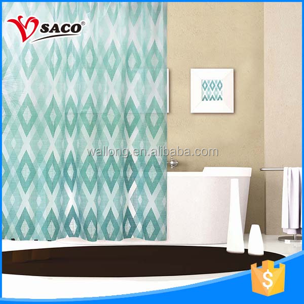 New style design PEVA bathroom latest curtain styles made in China