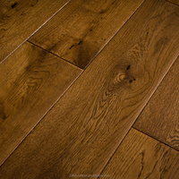 hand scrap and brushed solid oak wood flooring