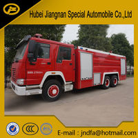 HOWO Foam A fire fighting water foam dry powder CAFS military FIRE truck 15000L