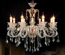 Beautiful Big size led candle light crystal chandelier e14 light Modern Luxury