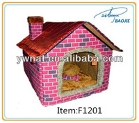 Directly factory fashion pet waterloo dogs/cat nest folded pet house cushion bed waterloo pets