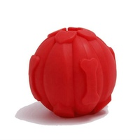Hot sale Pet outdoor training set----Eco-friendly safety silicone pet silicone sound bite resistant dog toy balls