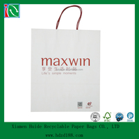 2014 Unlaminated Rope Handle paper carrier bag