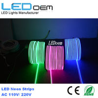 Home decoration 100m color changing rgb 220v flex led rope light