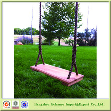 Outdoor garden tree kids wooden single swing