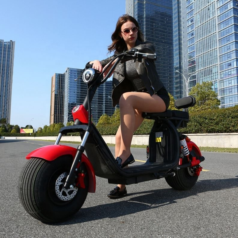 2019 Popular Iharley Style Electric Scooter 1500W Motor 60V 12Ah Battery Fashion Citycoco Scooter <strong>City</strong>
