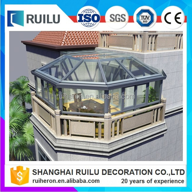 Latest design aluminum profile portable sun room