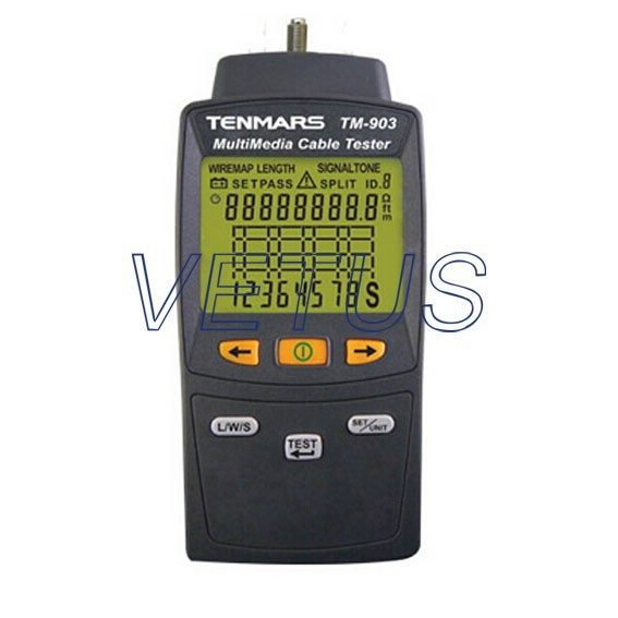 Mutimedia LAN cable Tester with Detect Auto backlit TM-903
