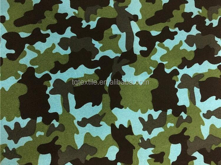 Classic design 100% polyester cheap military camouflage fabric/printed taffeta lining for jacket