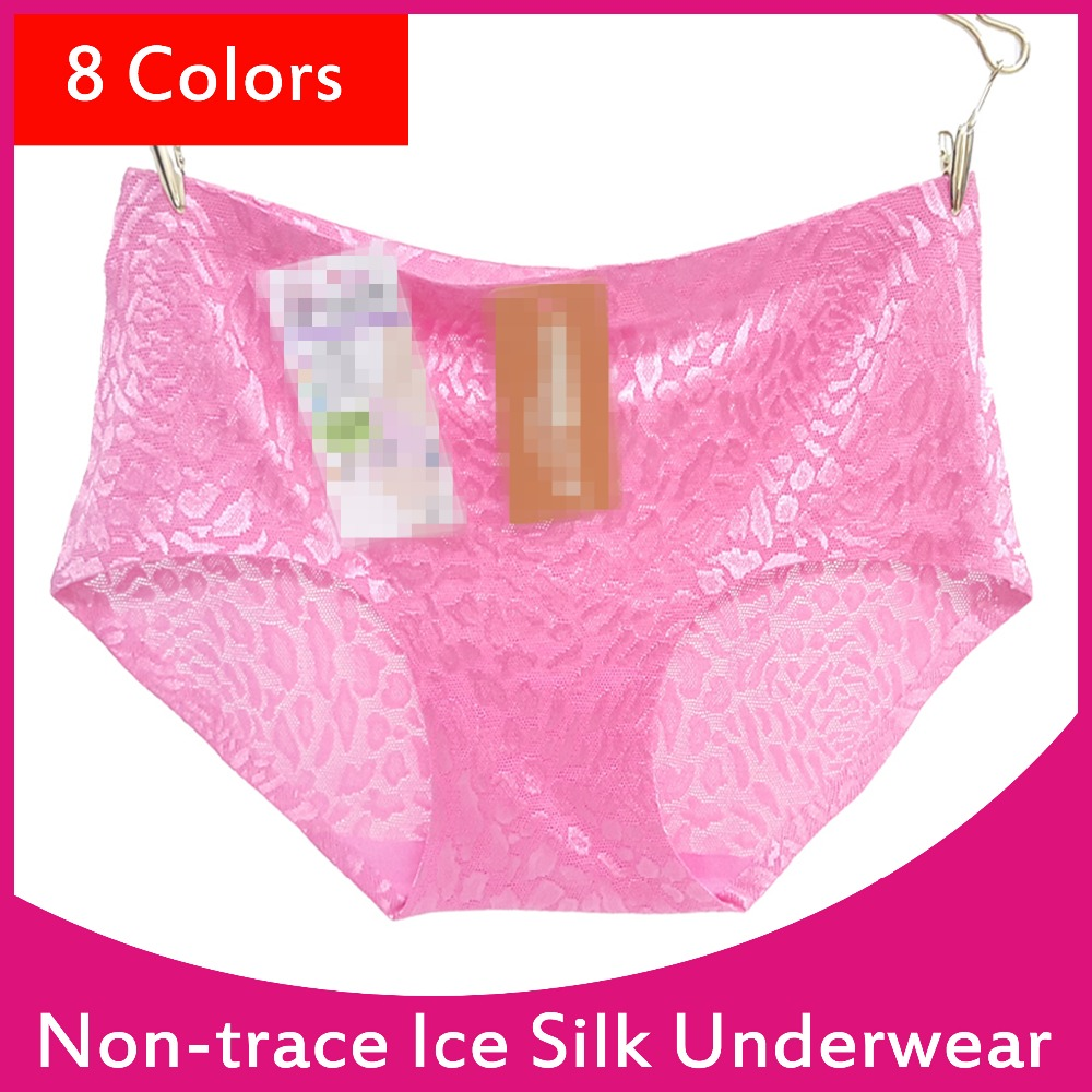 Women Fashion Large Size Non-trace Ice Silk Underwear <strong>102</strong>