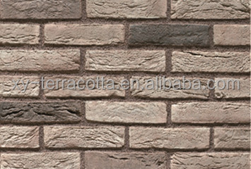foshan guangzhou grey old faux brick architectural interior wall panel decoration cladding wall brick decor