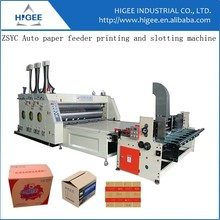 Auto feeder printing and slotting machine box making for mint
