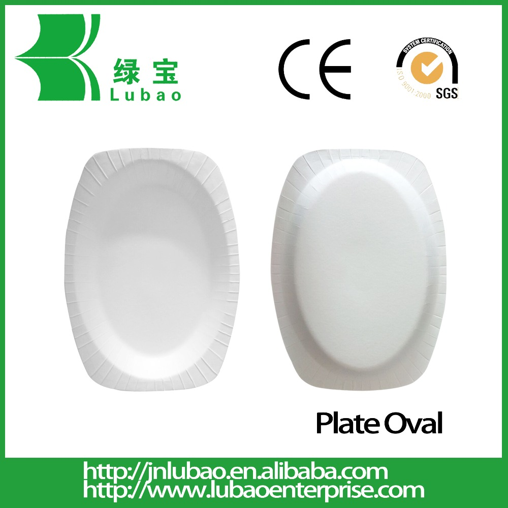 Round Flower Shaped Biodegradable Paper Dinner Plate for Event