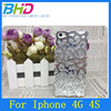 Palace flower case with diamond for iphone 4 4s