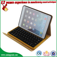 For ipad mini bluetooth keyboard case, wholesale wireless PU leather bluetooth keyboard case